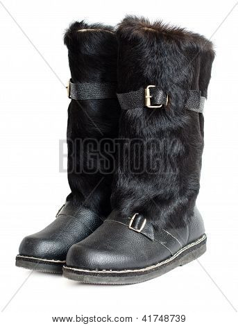 Black mens mukluk boots