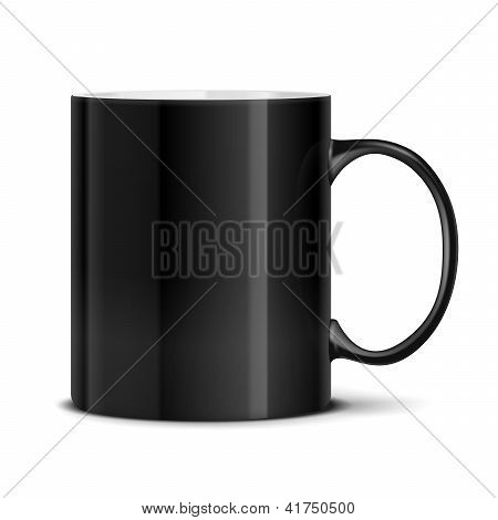 Black mug on white