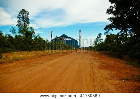 Two Chimney In Power Plant