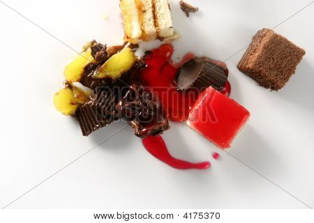 Broken Cake With Syrup Blood