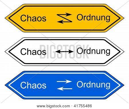 Richtung Zeichen Chaos und Ordnung