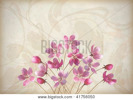 Floral Decorative Wedding Or Invitation Design