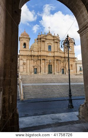baroque saint nicola church in noto