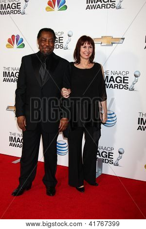 LOS ANGELES - JAN 31:  Jim Reynolds, wife Lissa Reynolds arrives at the 44th NAACP Image Awards at the Shrine Auditorium on January 31, 2013 in Los Angeles, CA.