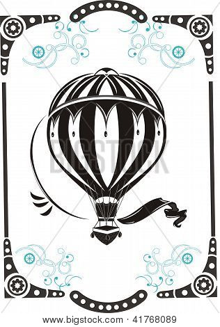 Vintage Style  Hot Air Balloon
