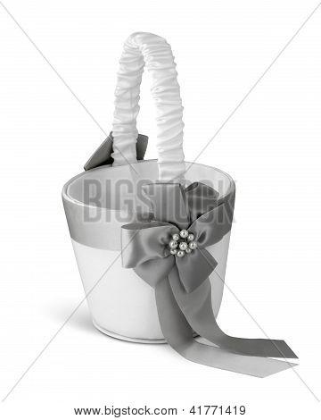 Wedding Basket On White