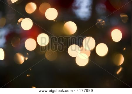 Christmas Lights Out Of Focus Background
