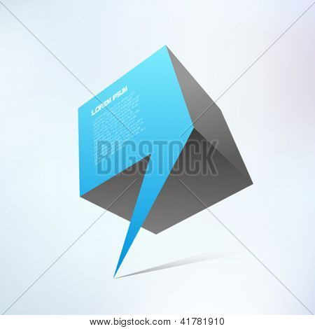 Abstract shape icon. Journalism concept.  Comma abstraction. Vector.