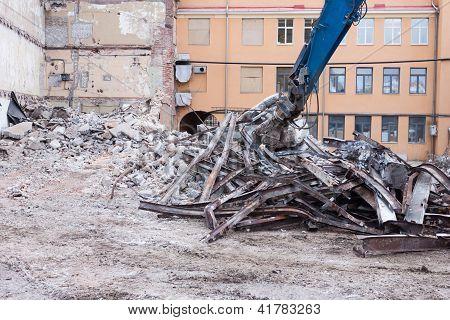 Demolition Truck In Action