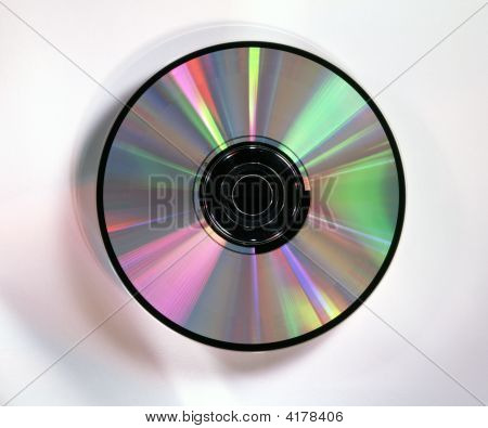 Cd/Dvd Rainbow On White Background
