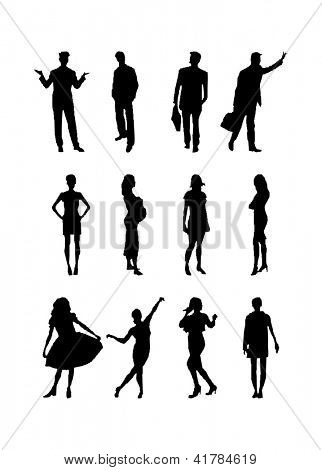 People Silhouettes. vector illustration. eps8