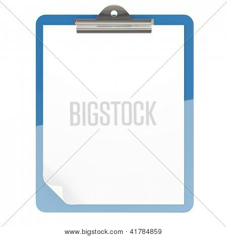 Isolated paper pad holder on white background
