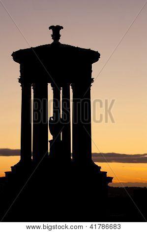Dugald Stewart Monument Silhouette