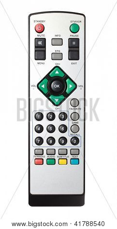 Controle remoto da TV, VCR, DVD, close-up
