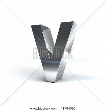 Metal Alphabet Character V