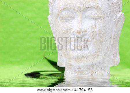 Head Of Meditating Yoga Statue