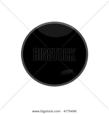 Black Glossy Web Button Pause