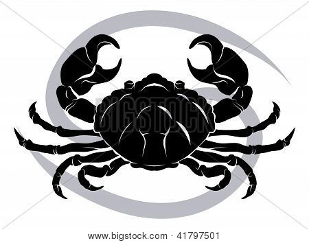 Постер, плакат: Рак зодиакальный гороскоп Астрология знак, холст на подрамнике