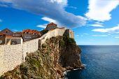 Panorama Of Walls Which Is Defending Old Dubrovnik