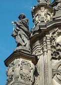 Постер, плакат: Деталь Святой Троицы Колонка в Оломоуц ЮНЕСКО наследия Чешская Республика