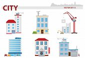 stock photo of public housing  - Public building cartoon - JPG