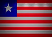 Liberia Flag Wall, Abstract Background