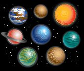 image of earth mars jupiter saturn uranus  - Various galaxy outer space Planets Solar System - JPG