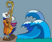 picture of clip-art staff  - Moses moves the Red Sea for the 