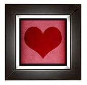 Modern love frame with heart design