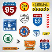 Set of vintage retro signs and labels eps 10