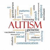 stock photo of aspergers  - Autism Word Cloud Concept with great terms such as asperger screening neuro social and more - JPG