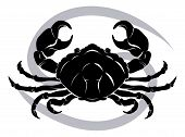 foto of cancer horoscope icon  - Illustration of Cancer the crab zodiac horoscope astrology sign - JPG