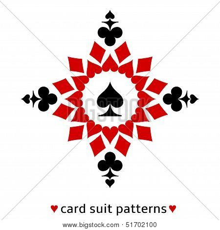 Spade card suit snowflake