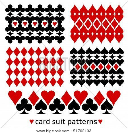 Background patterns with card suits