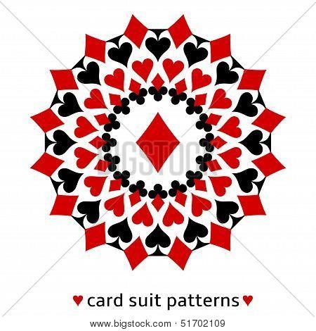 Diamond card suit snowflake