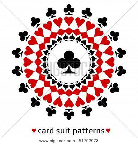Club card suit snowflake