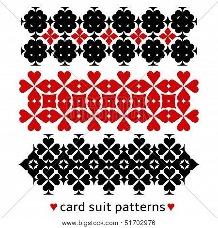 Patterns with card suits