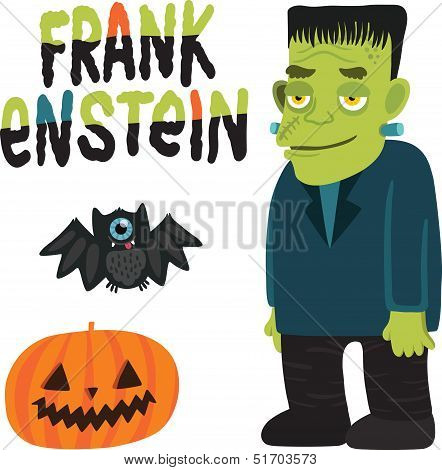 Halloween character Frankenstein with.