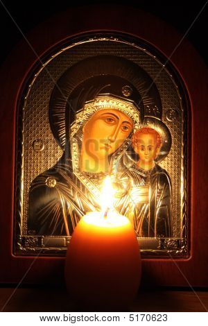 The Image Of The Virgin Mary With Child