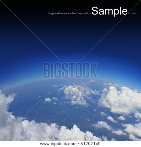 Curvature of the Earth,aerial shot