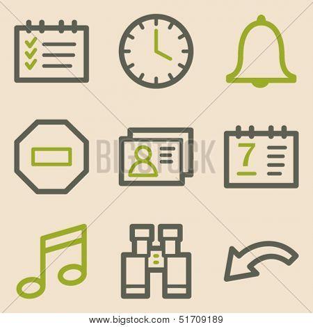 Organizer web icons, vintage series