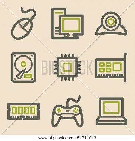 Computer web icons, vintage series
