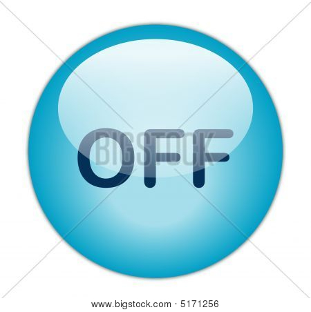 The Glassy Blue Off Button