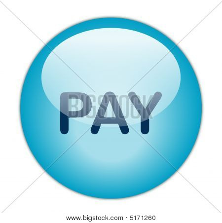 The Glassy Blue Pay Button