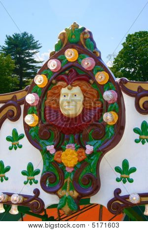 Amusement Park Ride Head Detail