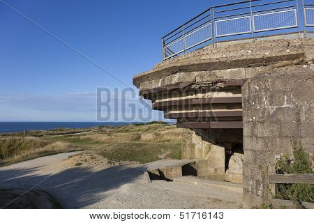 Bunker In The Pointe Du Hoc, Cricqueville-en-bessin, Normandie, France