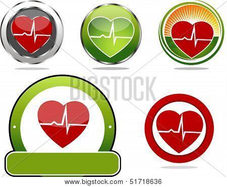 Heart beat symbols
