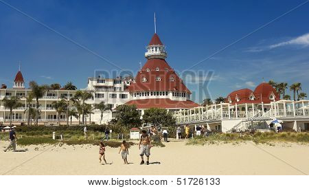 A Shot Of The Hotel Del Coronado