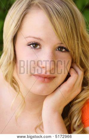 Close-up Of Pretty Teenage Girl