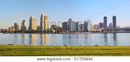 Downtown City of San Diego, California Cityscape Panorama